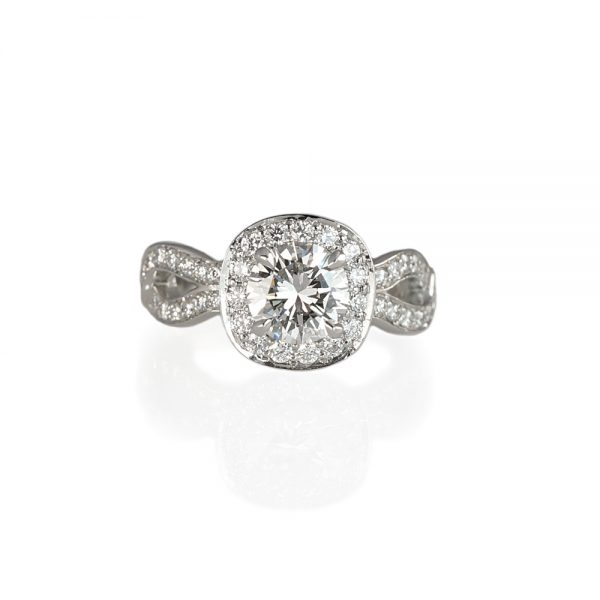 Samantha Halo And Diamond Weave Engagement Ring-0