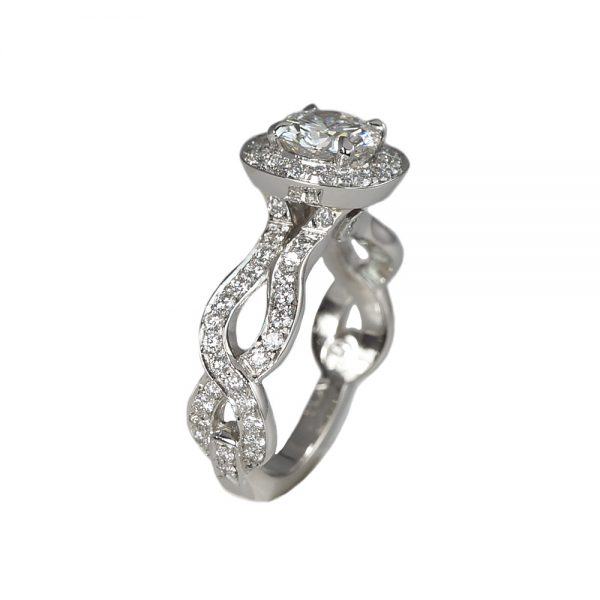 Samantha Halo And Diamond Weave Engagement Ring-1647