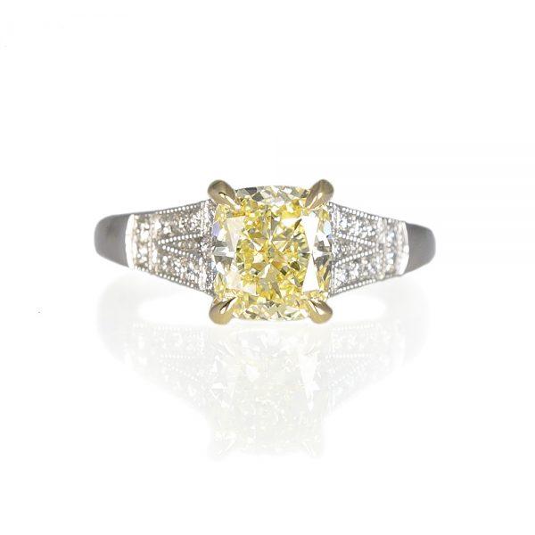 Kumari Fancy Yellow Diamond Engagement Ring-0