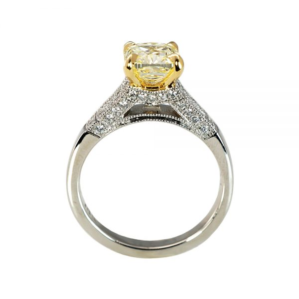 Kumari Fancy Yellow Diamond Engagement Ring-1650