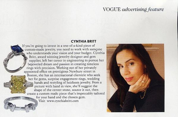 jewelry designer Cynthia Britt