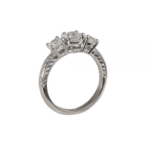 Alyssa Three-Stone Platinum Engagement Ring-1685