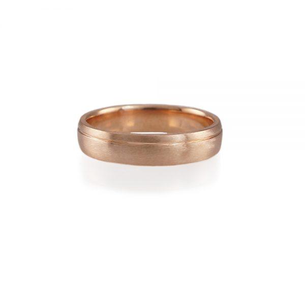 Colm Rose Gold Men's Wedding Band-0
