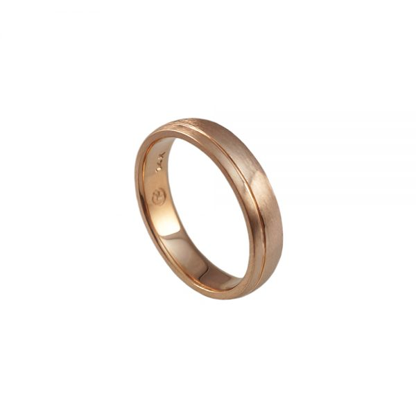 Colm Rose Gold Men's Wedding Band-1687