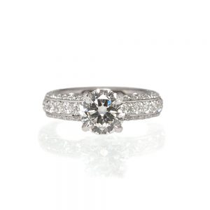 Ali Diamond Pavé Engagement Ring-0