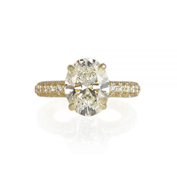 Brielle Diamond Pavé Engagement Ring-0