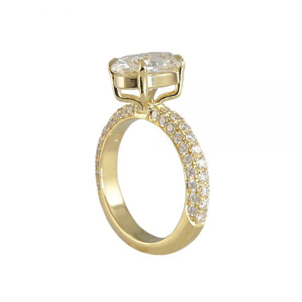 Brielle Diamond Pavé Engagement Ring-1717