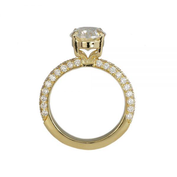 Brielle Diamond Pavé Engagement Ring-1716