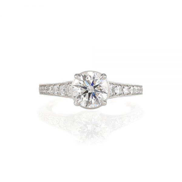 Katherine Diamond Leaf Engagement Ring-0