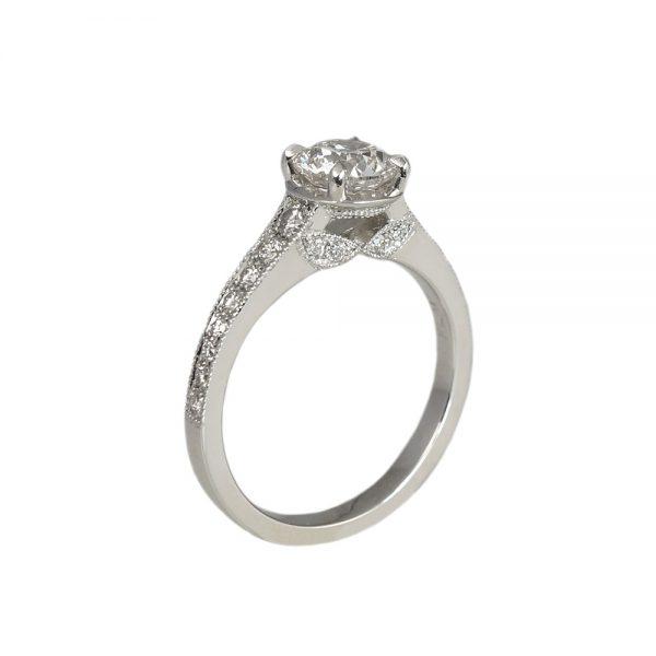 Katherine Diamond Leaf Engagement Ring-1723