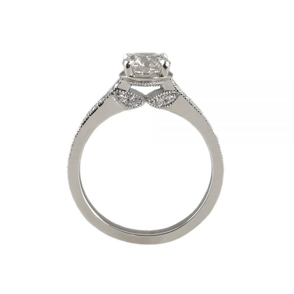Katherine Diamond Leaf Engagement Ring-1722