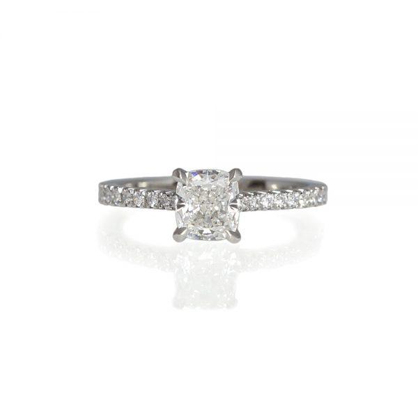 Leah French Set Diamond Band Engagement Ring-0
