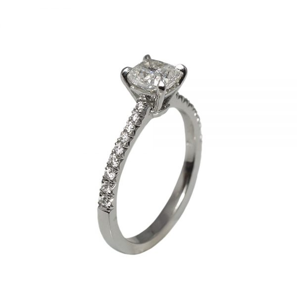 Leah French Set Diamond Band Engagement Ring-1636