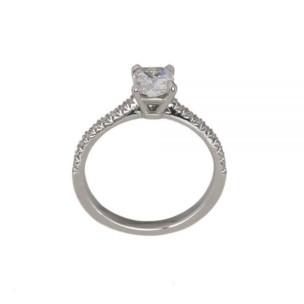 Leah French Set Diamond Band Engagement Ring-1635