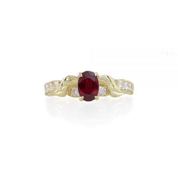 Sarah Ruby And Diamond Engagement Ring-0