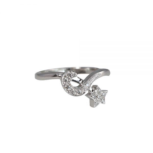 Ella Moon And Star Diamond Ring-0