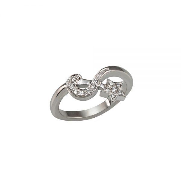 Ella Moon And Star Diamond Ring-1691