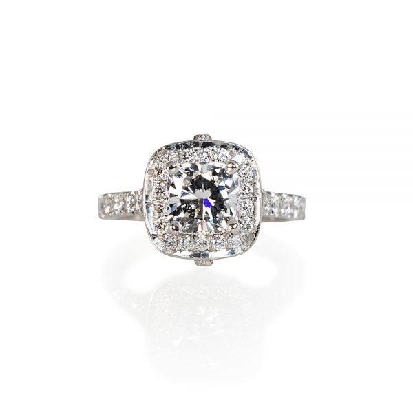 Kate Cushion Engagement Ring-0