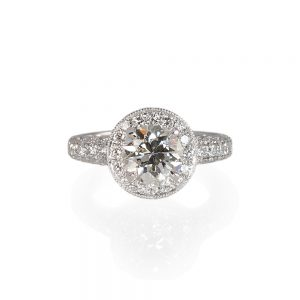 Andrea Halo And Diamond Pavé Engagement Ring-0