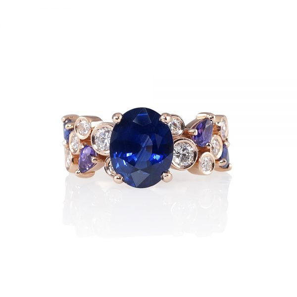 Linda Sapphire And Diamond Bubbles Ring-0
