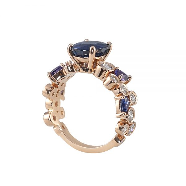 Linda Sapphire And Diamond Bubbles Ring-1803
