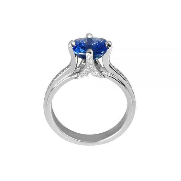 Jennifer Sapphire And Diamond Ring-1768