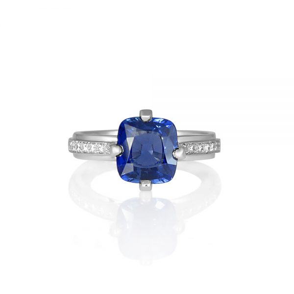 Jennifer Sapphire And Diamond Ring-0
