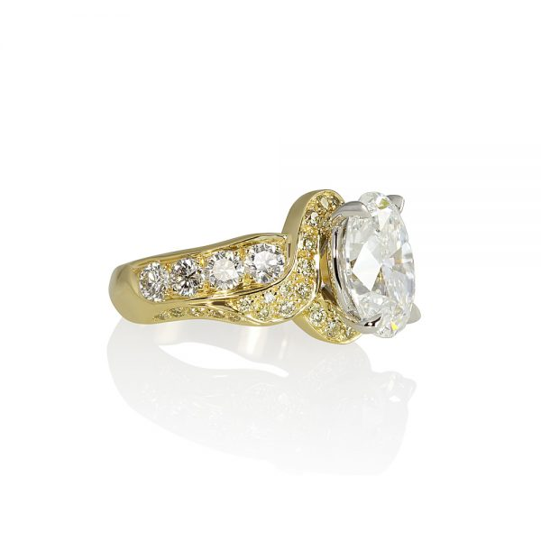 Jill Oval Diamond Wrap Engagement Ring-1777