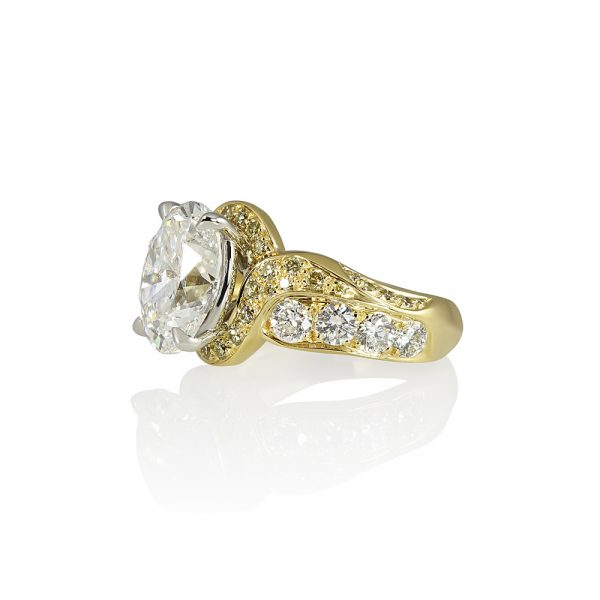 Jill Oval Diamond Wrap Engagement Ring-1778