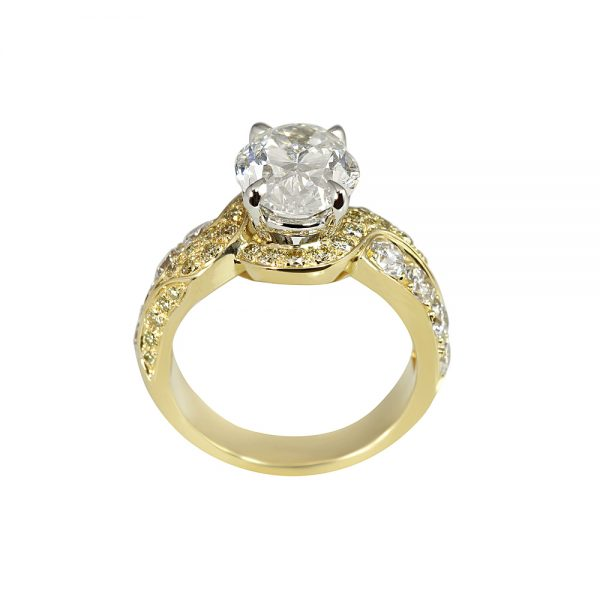 Jill Oval Diamond Wrap Engagement Ring-1776