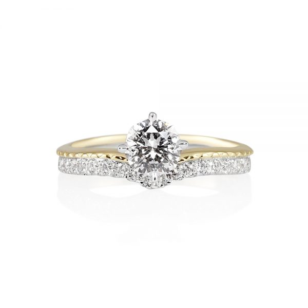 Leslie 88 Cut Diamond Two Tone Engagement Ring-0