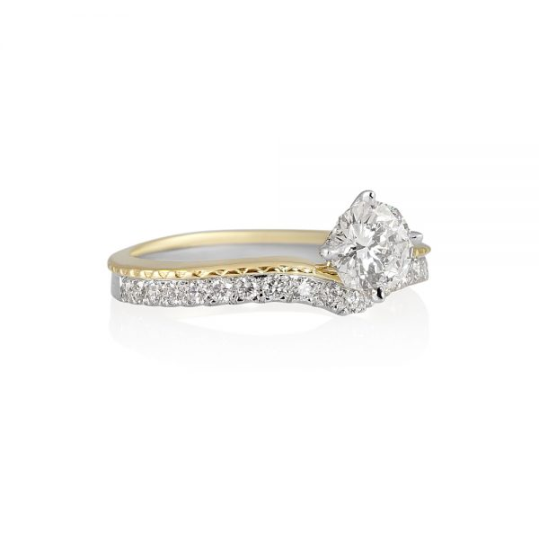 Leslie 88 Cut Diamond Two Tone Engagement Ring-1983