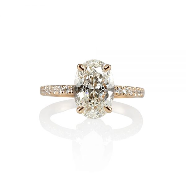 Amelia Oval Diamond Engagement Ring-0