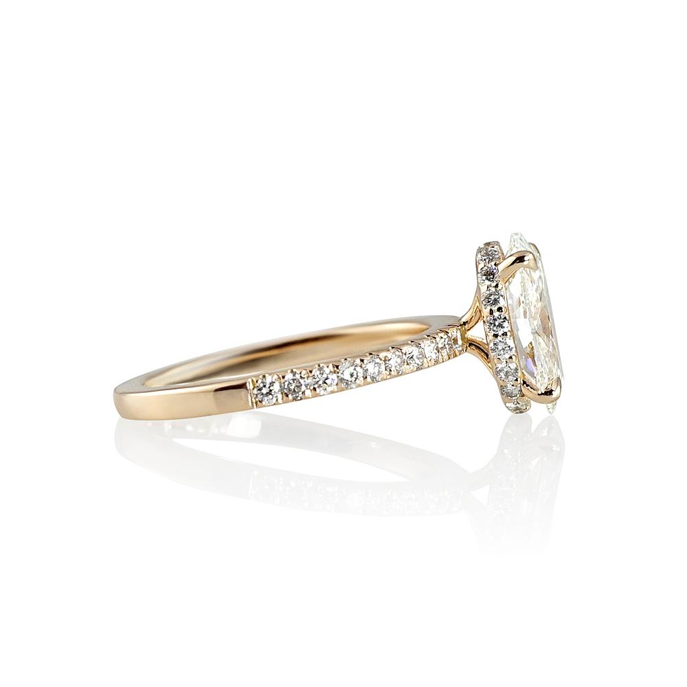 Amelia Oval Diamond Engagement Ring Cynthia Britt