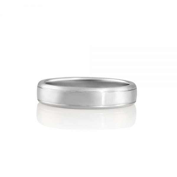 Charles Platinum Men's Wedding band-0