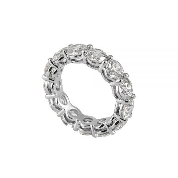 Lara Round Brilliant Cut Platinum and Diamond Eternity Wedding Band-1942