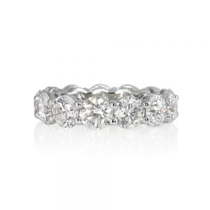 Lara Round Brilliant Cut Platinum and Diamond Eternity Wedding Band-0