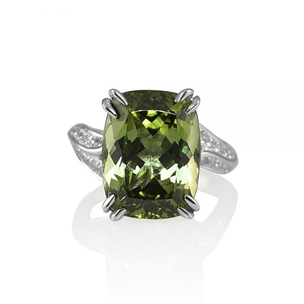 Marcy Green Tourmaline And Diamond Engagement Ring-0