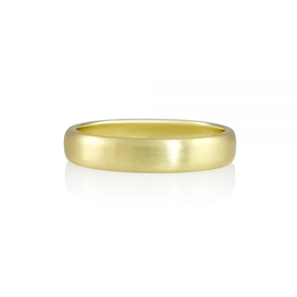 Nick Men's Green Gold Wedding Band-0