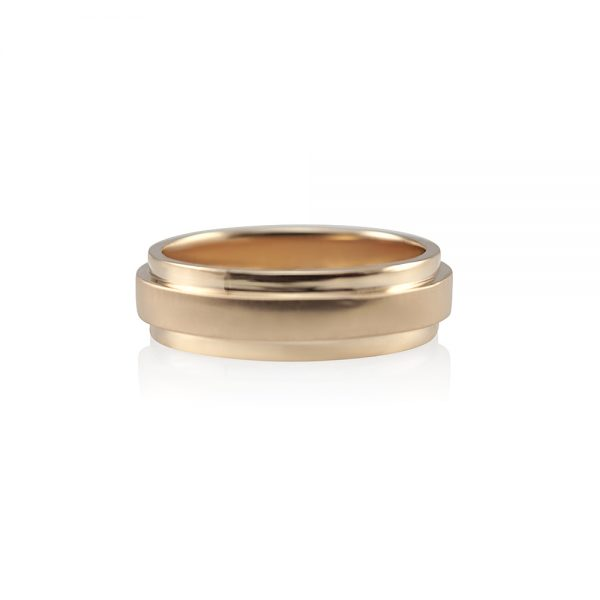 Seth Rose Gold Men's Wedding Band-0