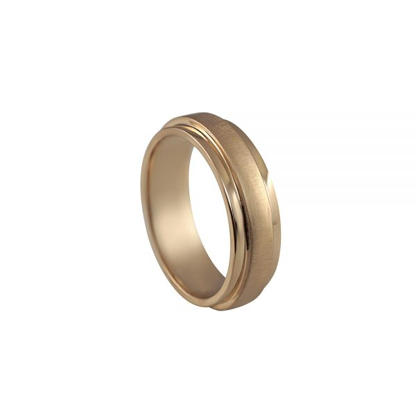 Seth Rose Gold Men's Wedding Band-1815