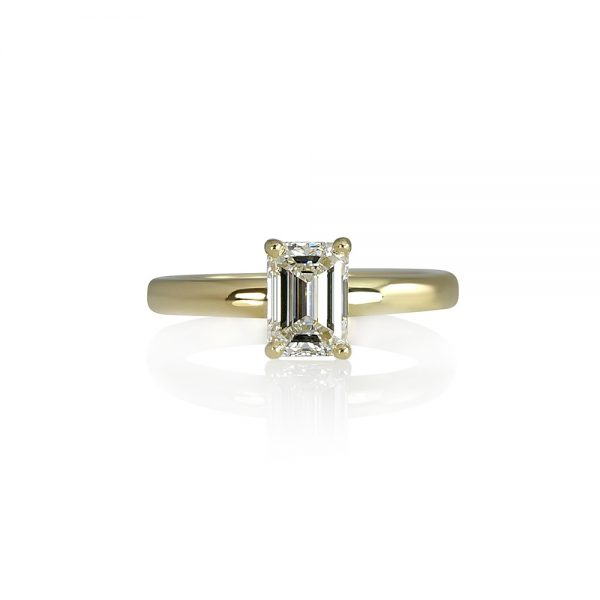 Cynthia Britt Emerald Cut Solitaire For Chelsea-0