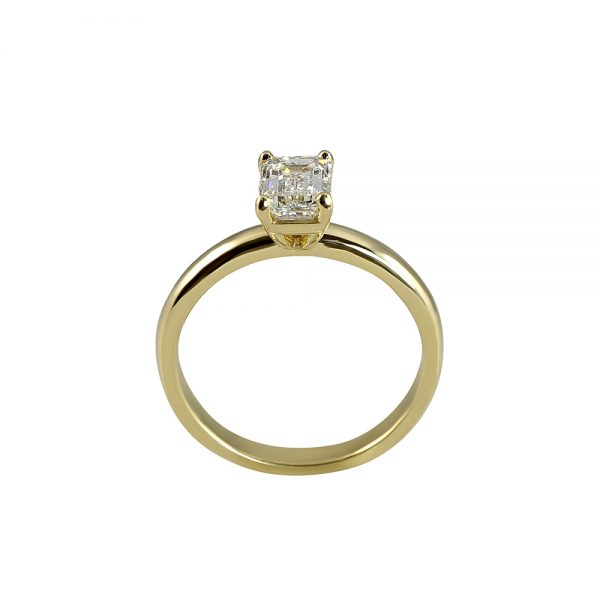Cynthia Britt Emerald Cut Solitaire For Chelsea-1823