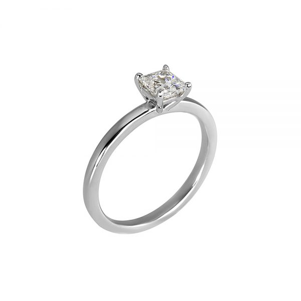 Cynthia Britt Princess Cut Solitaire For Ashley-1819