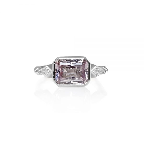 Kimberly Pink Sapphire And Kite Diamond Engagement Ring-0