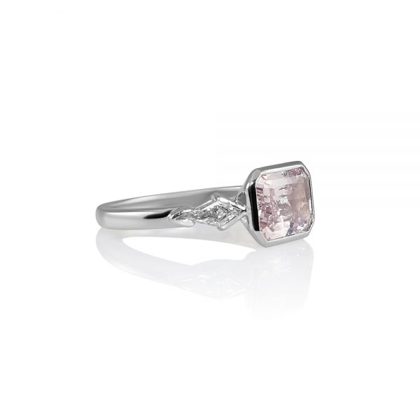 Kimberly Pink Sapphire And Kite Diamond Engagement Ring-1825