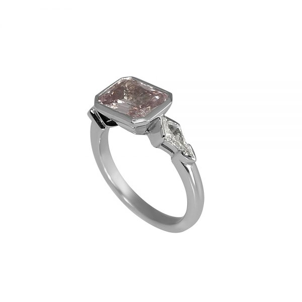 Kimberly Pink Sapphire And Kite Diamond Engagement Ring-1826