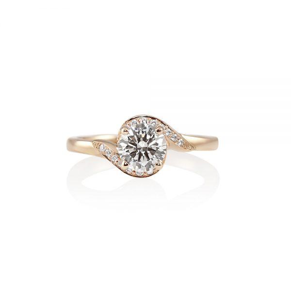 Adrienne Twist Diamond Engagement Ring by Cynthia Britt-0