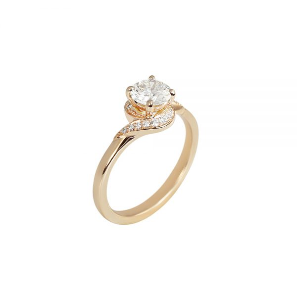 Adrienne Twist Diamond Engagement Ring by Cynthia Britt-2030