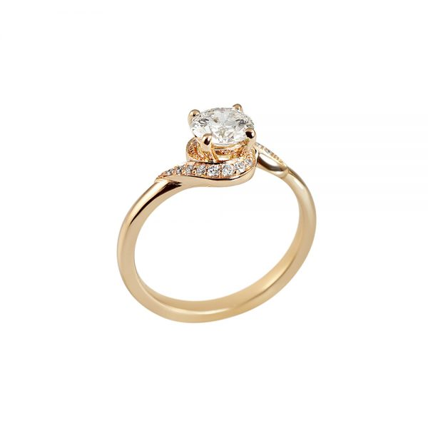 Adrienne Twist Diamond Engagement Ring by Cynthia Britt-2031